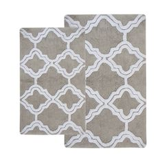 2 Piece Double Quatrefoil Bath Rug Set