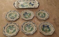 Collard honiton pottery 7 piece sandwich set with plates