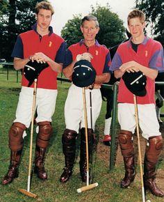 Prince Harry, Prince Charles and Prince William. .