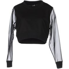 Cheap Monday Sweatshirt ($47) ❤ liked on Polyvore featuring tops, hoodies, sweatshirts, sweaters, shirts, jumpers, black, long sleeve sweatshirt, long-sleeve shirt and round collar shirt