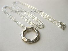 Modern simple minimalist jewelry Sterling by BelhavenStudios