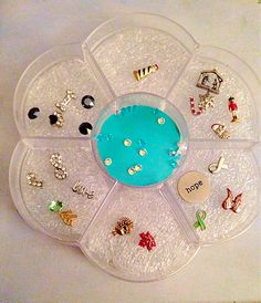 Origami Owl Storage. $2.99 at Hobby Lobby, add foam for protection and there you have it!!