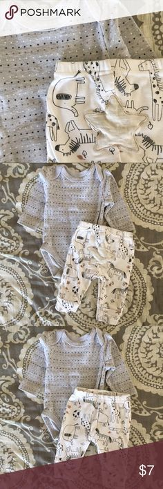 🆕 ✨B2G1✨ René Rofé Bodysuit Outfit Super cute polka dot body suit with western print pants!!  Great condition!!!!   • No Trades • Price Firm, unless bundled • Buy 2 Little Man Listings, get 1 FREE      • of equal or lesser value       • see post at top of page Rene Rofe baby Matching Sets