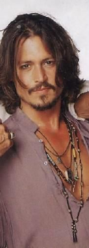 Johnny Depp ~ He's not of this world ~ Men just come this beautiful from Earth..lol But Johnny knows how to enhance his looks and is not afraid to do it, he is comfortable in his skin!