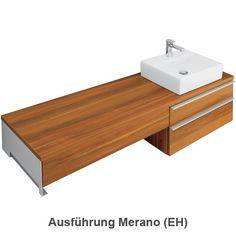 Villeroy & Boch Shape Waschtischunterschrank asymmetrisch mit 2 Auszügen, maßflexibel Korpus Merano / Front Merano