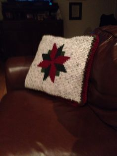 Christmas star pillow crochet