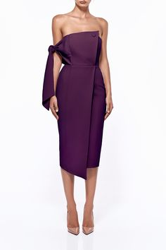 Romi Dress in Plum   Shop now at mishacollection.com.au.