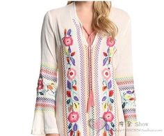 ETHNIC STYLE EMBROIDERED MAXI DRESS *SIZE S-XL *2COLORS – BOHEMIAN MAMMA