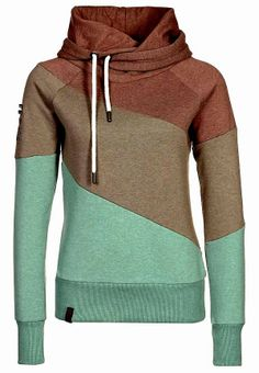 Tri Colored Neck Layer Comfy Hooide