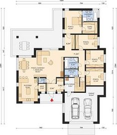 APS 312 - Rzut parteru My House Plans, Floor Plans, How To Plan, Home Decor, Modern, Senior Living Homes, Homemade Home Decor, Decoration Home, Floor Plan Drawing