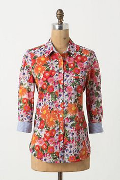 I am just so obsessed with Anthropologie's spring line! I would do anything for a shopping spree there right about now... Hanalei Buttondown, Floral #anthropologie