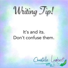 """Time for a writing tip! ✍🏼 ⠀ ⠀ Do you know the difference? One is an omission of """"it is"""" and the other is possessive. The easiest way I work out which one to use if I'm not sure is to say the sentence with """"it is,"""" if it doesn't make sense with """"it is"""", then the correct word to use is """"its.""""⠀ ⠀ #bookwritingtips #writing_inspiration #writinglife #writingislife #writingskills #yaauthor #fictionauthor #fictionwriter #fantasywriter #fantasybook #loveforfantasy #aspiringauthors… Book Writing Tips, Writing Skills, Words To Use, Fantasy Books, I Work Out, Writing Inspiration, Creative Writing, Sentences, Writer"""