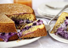 Torta Paradiso with Mascarpone and Blueberries - Torta paradiso, or paradise cake, is a light and fluffy classic Italian sponge that can be served just with a dusting of icing sugar or with various fillings.