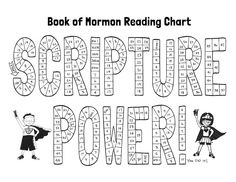 Printable Book of Mormon Reading Chart for kids