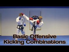 Basic Offensive Kicking Combinations for Sparring