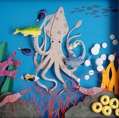 under the sea life | paper art