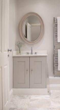 Small Bathroom Renovation Ideas I really like doing this. Grey Bathrooms, Bathroom Renos, Beautiful Bathrooms, Bathroom Ideas, Neutral Bathroom, Bathroom Colours, Country Bathrooms, Bathroom Faucets, Shower Ideas