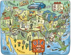 Road Trip Map Of Usa By Aaron Meshon
