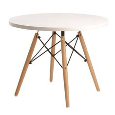 Inspired on Charles Eames childrens table. Designer childrens table from 1950 Charles Eames, Ray Charles, Dining Table, Play Table, Kid Table, Playroom Table, Round Dining, Home Living, Wood