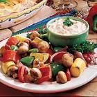 Roasted veggies with dip...a nice change from raw veggies and dip...
