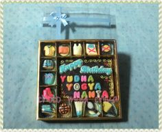 Birthday gift chocolate summer sport theme