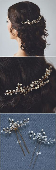 elegant bridal hair pins for wedding hairstyles