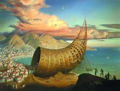 """Horn of Babel"" by Vladimir Kush - Surrealismo / Surrealism"