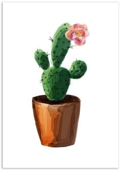 Mode Prints Watercolour Cactus Art Print art Watercolour Cactus Art Print by Mode Prints