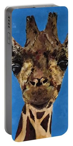 Giraffe: A design by Kelly Goss Art printed on to portable battery chargers with various recharge capacities. For recharging your smartphone or tablet.