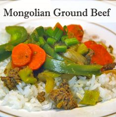 A quick and easy recipe for Mongolian Ground Beef.  Ready in about 20 minutes, for those busy weeknights.
