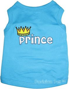 Pet Clothes PRINCE Dog T-Shirt - Medium $7.95