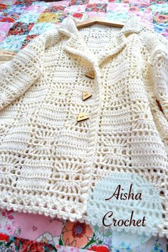This post was discovered by May Mathineehandmade. Discover (and save!) your own Posts on Qoster.Crochet Jacket with lacy hem aIrish Lace Crochet Crochet P Crochet Baby Sweaters, Crochet Coat, Crochet Cardigan Pattern, Crochet Baby Clothes, Crochet Jacket, Crochet Blouse, Crochet Braids, Crochet Girls, Crochet For Kids