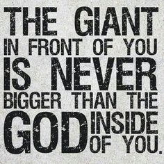 Lead Me| The Giant doesn't deserve my fear nor worries.