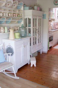 Pastel kitchen.