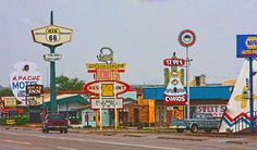 Tucumcari, New Mexico. A route 66 This city was both desolate and festive at the same time.