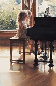 ~ sisters at the piano. I used to love doing piano duets - the thing about it that is better than playing in your own is that it makes the music sound more amplified and grand Foto Art, Watercolor Artists, Watercolor Paintings, Realistic Paintings, Art Paintings, Painting Art, Beautiful Paintings, Art Music, Belle Photo