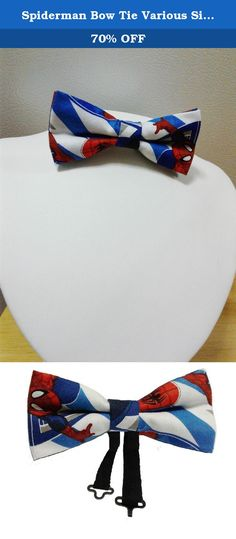 Spiderman Bow Tie Various Sizes Big and Tall, Adult, Children. This patriotic bow tie has the logo of the superhero Spiderman. It is adjustable and double layered and is for males and females. You select the size. Meticulously handcrafted in the USA. You slide the strap to adjust the length. Easy on and off and a perfect and comfortable fit every time. Bow tie is available in various sizes. To clean, gently rub with a damp cloth or hand wash, as needed, and lay on a flat surface overnight…