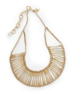 Sequin Linear Link Necklace   Piperlime