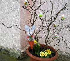 Venkovní velikonoční dekorace