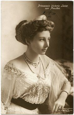 Viktoria Luise of Prussia, the only daughter of Kaiser Wilhelm II