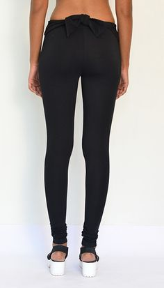 """""""Blooming Bow Leggings"""" Cotton & Lycra- Full Length. Get Now : https://www.estrolo.com/product-category/women/leggings/ #BlackLeggings #Leggings #StylishLeggings #EstroloFashion"""