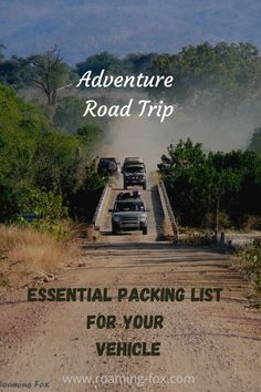 Essential packing list for your vehicle for an adventurous road trip #africa #southafrica #roadtrip #packinglist #download #freedownload Road Trip Essentials, Road Trip Hacks, Road Trips, Travel Around The World, Around The Worlds, Road Trip Adventure, Group Travel, Travel Inspiration, Travel Ideas