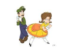 Daisy's the real man! Super Smash Bros Memes, Nintendo Super Smash Bros, Super Mario And Luigi, Super Mario Art, Nintendo Game, Nintendo Characters, Mario Brothers, Mario Bros, Princesa Daisy