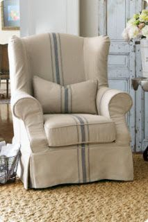 Slipcovered Tristan Chair I   Slipcover Chair, Wingback Chair, Modern  Wingbacku2026