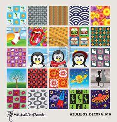 Azulejos Adesivos Decora nº 010 www.mejoganaparede.com.br