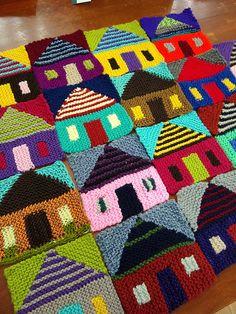 Knitting Blocking, Knitting Squares, Knitting Patterns Free, Free Knitting, Baby Knitting, Crochet Patterns, Filet Crochet Charts, Crochet Motif, Knit Crochet