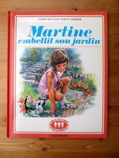 Martine Embellit Son Jardin (1970) by Gilbert Delahaye, Marcel Marlier - Vintage French Childrens Book