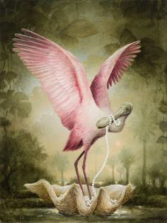 Appropriating the aesthetic of John James Audubon, Kevin Sloan explores the poetic dimensions of nature using a representational, scientific style. Birds Painting, Animal Art, Surreal Art, Painting, Illustration Art, Art, Surrealism Painting, Beautiful Art, Bird Art
