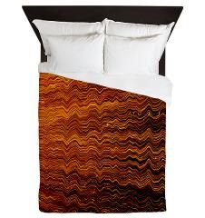 Colorful Abstract light wave lines Queen Duvet> Abstract light wave texture> Victory Ink Tshirts and Gifts