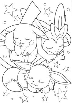 Pikachu and Eevee Friends coloring book (end)
